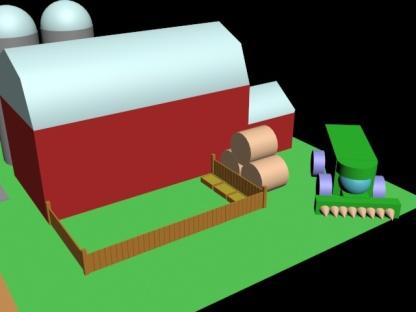 RSeaba_Farm(Barn,Tracktor, food Pen)